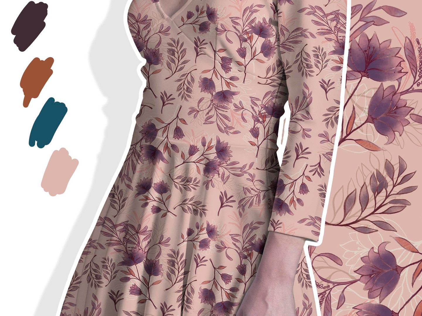 watercolour sophisticated prints for fas
