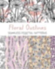 floral seamless patterns colecciones ets