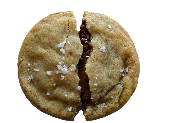 NUTELLA STUFFED SALTY BROWN BUTTER COOKIE