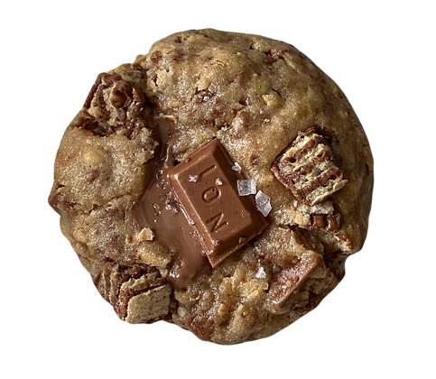 MY BIG FAT GREEK COOKIE (STUFFED CHOCOFRETA COOKIE)