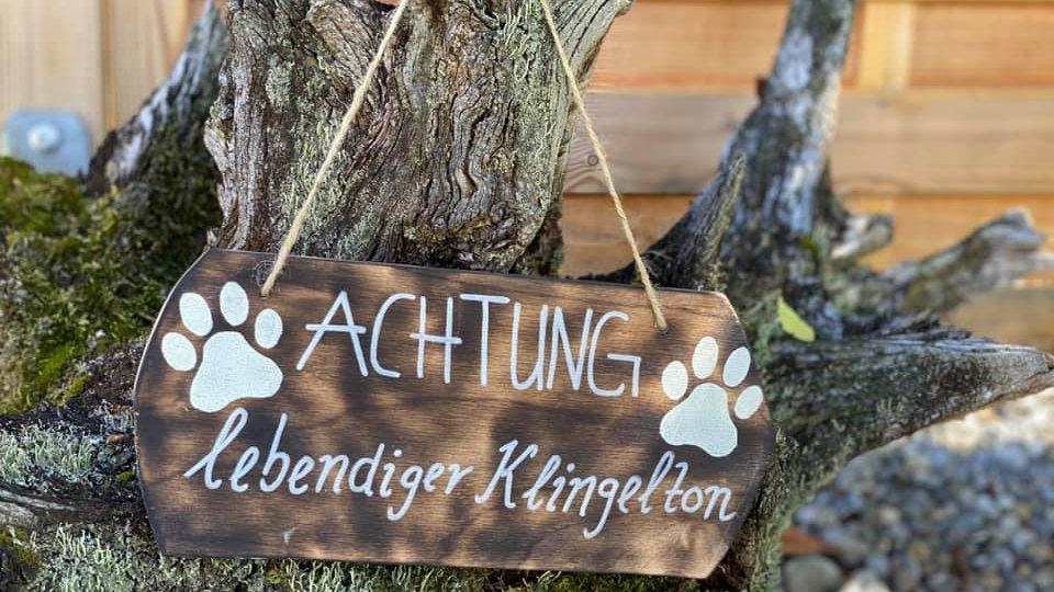 """Schild """"Klingelton"""""""