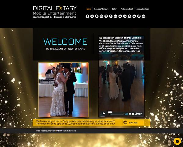 Digital Extasy DJ Website