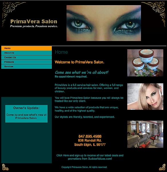 Primavera Salon Website