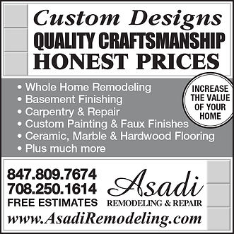 Asadi Remodeling & Repair Yellow Pages Ad A