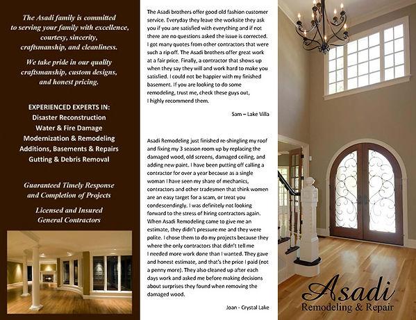 Asadi Remodeling & Repair Brochure A
