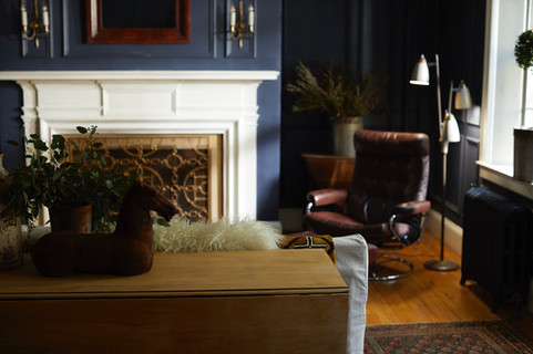 Acorn chair in the parlor
