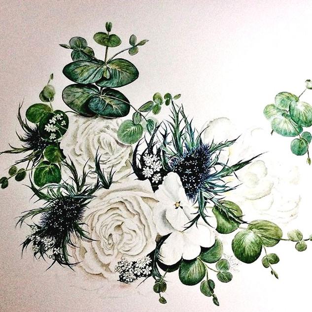 Brides bouquet painting #brides #bouquet