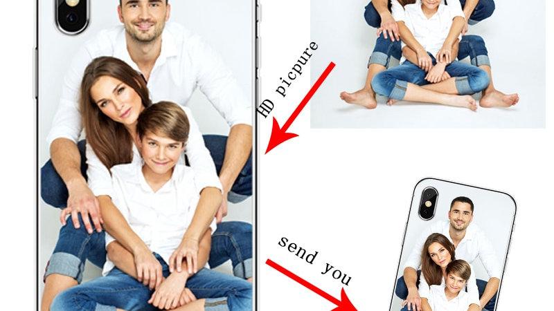 Soft Silicone TPU  Phone Case Customized Photo  for iPhone 5 5S SE 6 6 Plus 7 8