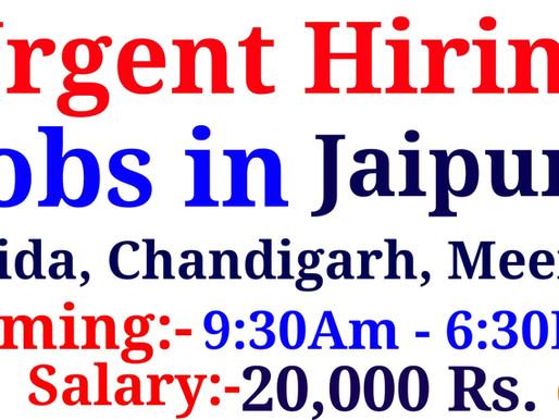 Jobs in Jaipur, Noida, Chandigarh, Meerut| Office work | Private Jobs | Specialnaukri