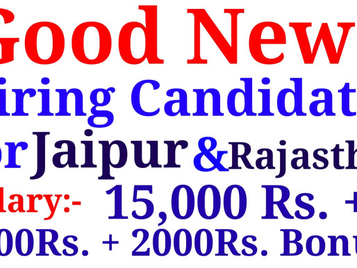 Urgently required Candidates for Jaipur & Rajasthan  Private Jobs in Jaipur  Specialnaukri