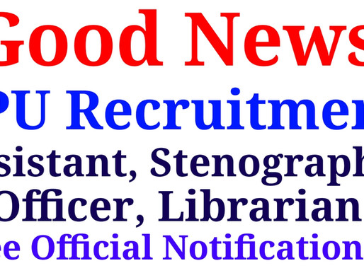IPU Jobs Notification 2021 | Application Form Officer, Assistant, Stenographer 33 Post