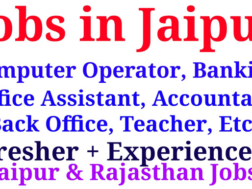Urgent Hiring for Banking,ITI Field, Hotel management, Computer operator,account,office assistant