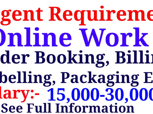 Online work in Garment Industry  Urgent Requirement   Jobs in Jaipur  