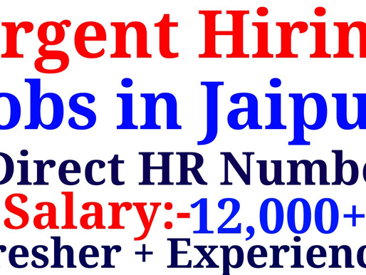 Jobs in jaipur|Back Office work,Data Entry Job for fresher&experienced12th,Graduation|Specialnaukri