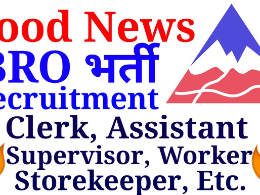 BRO Recruitment 2021 Application Form Draughtsman, Supervisor, Assistant, Worker, Store Keeper