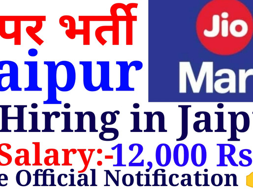 Urgent Hiring for Candidates in Jaipur for Fresher /Experience for Jio Mart Delivery, E-riksha Drive