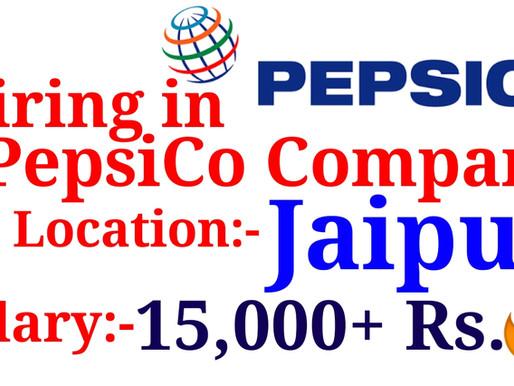 Hiring in Pepsico in Jaipur for Customer Executive Posts| Private Jobs in Jaipur| Specialnaukri
