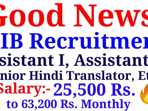 NIB Recruitment 2021 Apply For 11 Assistant I, II & Jr Hindi Translator Vacancy at nib.gov.in