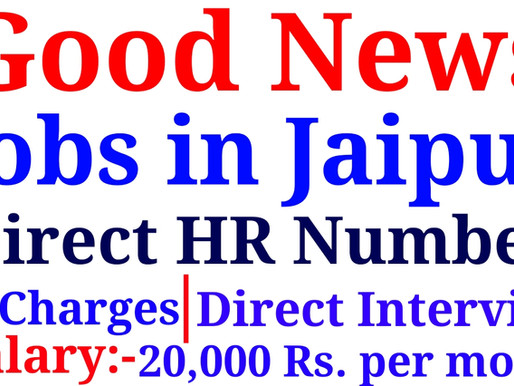 Urgent Hiring for Candidates in Jaipur for Fresher /Experience/Voice & Non-voice Process/ Chat Proce