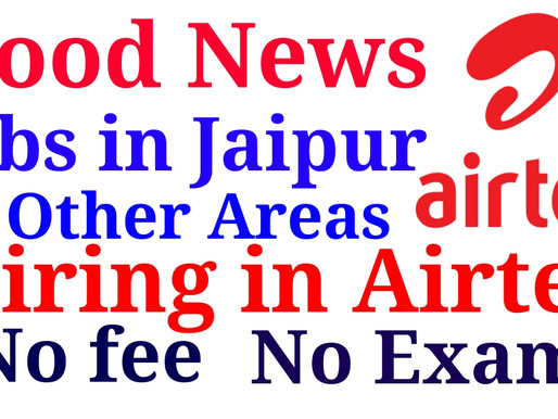 Jobs in Airtel (Jaipur, Rajasthan, and other areas)| Private Jobs in jaipur| Specialnaukri