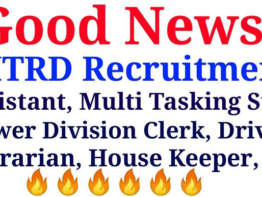 NITRD Delhi Recruitment 2021, MTS,LDC, Assistant, Driver, House keeper, Librarian Etc.|Specialnaukri
