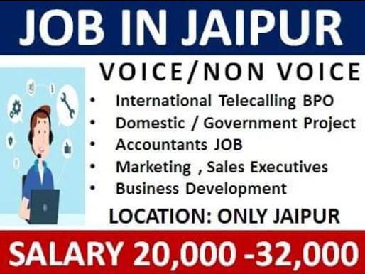 Jaipur Jobs for Voice & Non-voice process, BPO, Accountants, Marketing, Sales Executive|Private Jobs