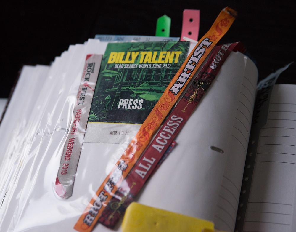 billy talent press pass - Riot Fest Artist bracelet and all access