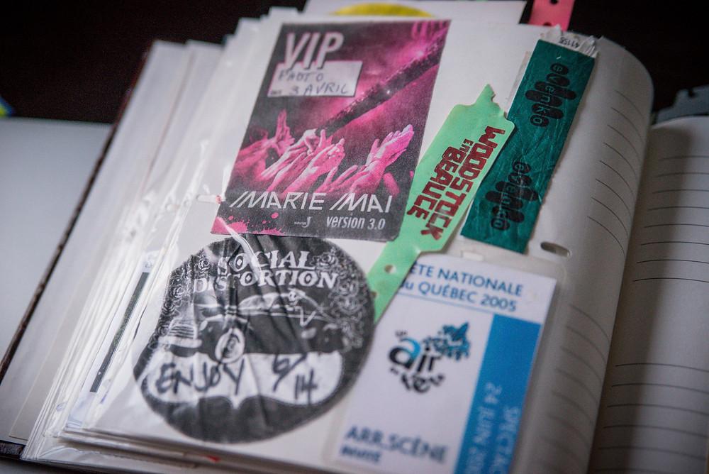 marie-mai version 3.0 photo pass - social distortion photo pass - woodstock en beauce bracelet - fête nationale du québec 2005 arrière scène