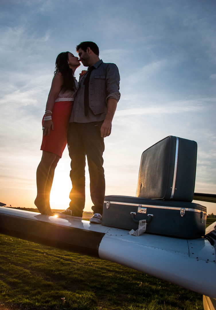 Couple and Airplane