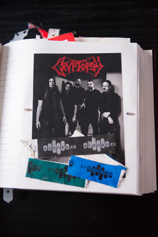 Took the picture, Cryptopsy Flyer - Evenko bracelets
