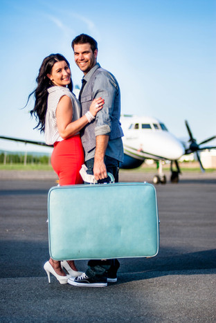 Couple and Airplane Travel