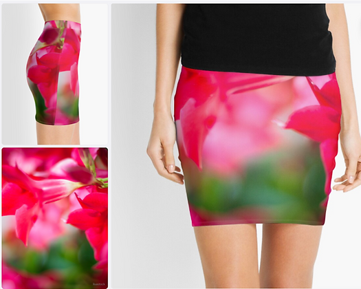 Pretty France Flower Mini Skirt