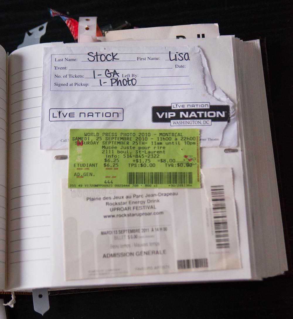 world press photo 2010 - uproar festival @ parc jean-drapeau Montréal 2011 - Live Nation VIP Washington DC