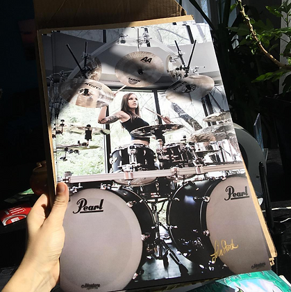 Drums Rule Signed Poster (11x17)