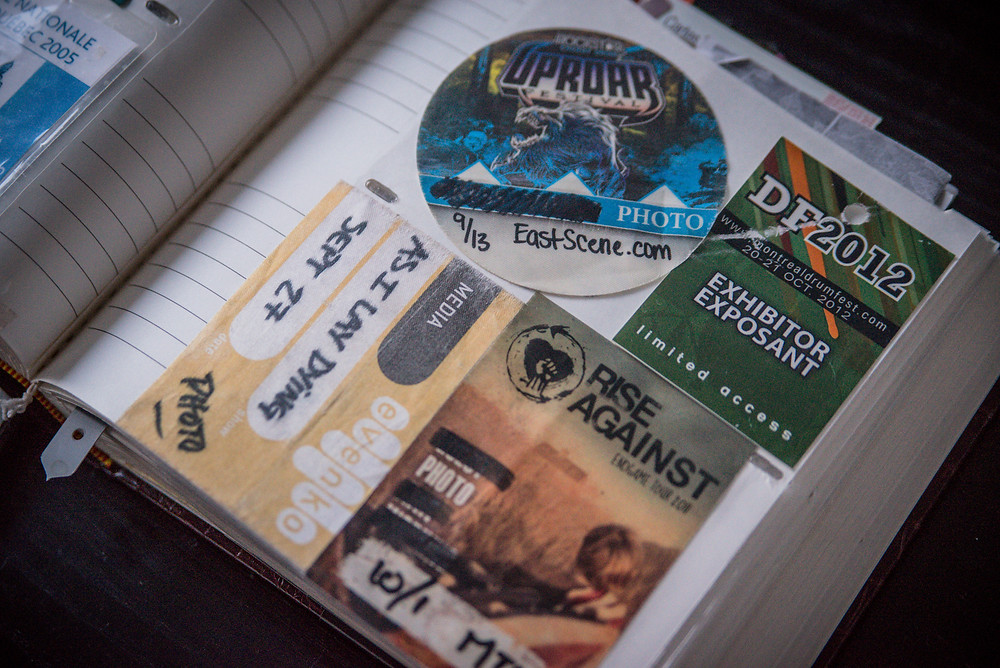 uproar photo pass - east scene - as I lay dying media pass - drum fest 2012 - rise against photo pass montreal