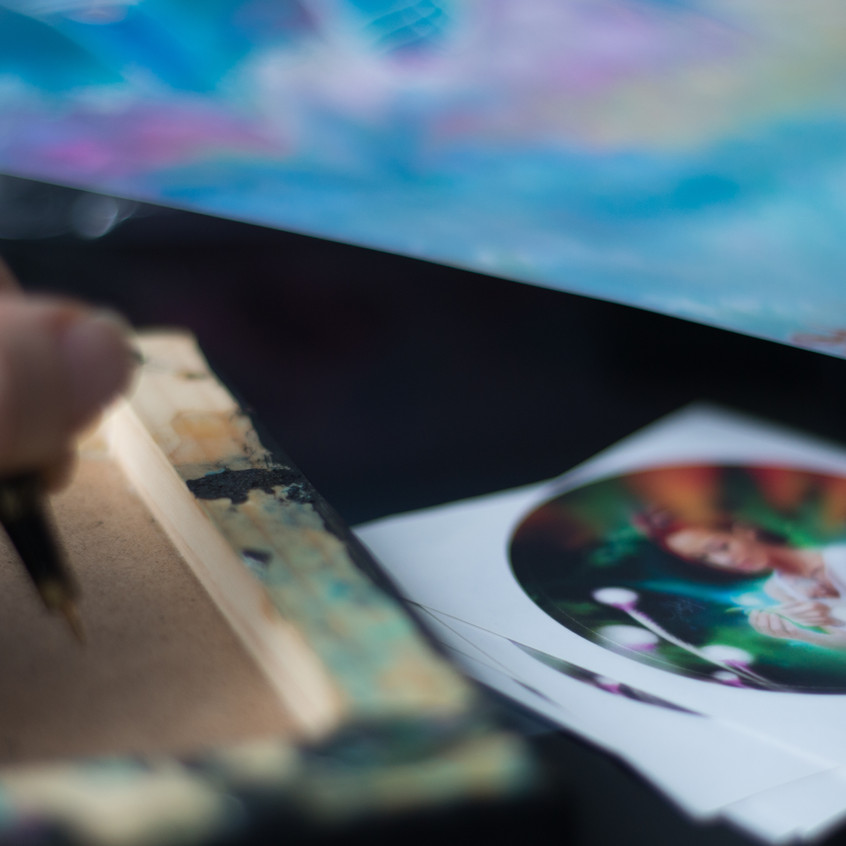 Signing art pieces