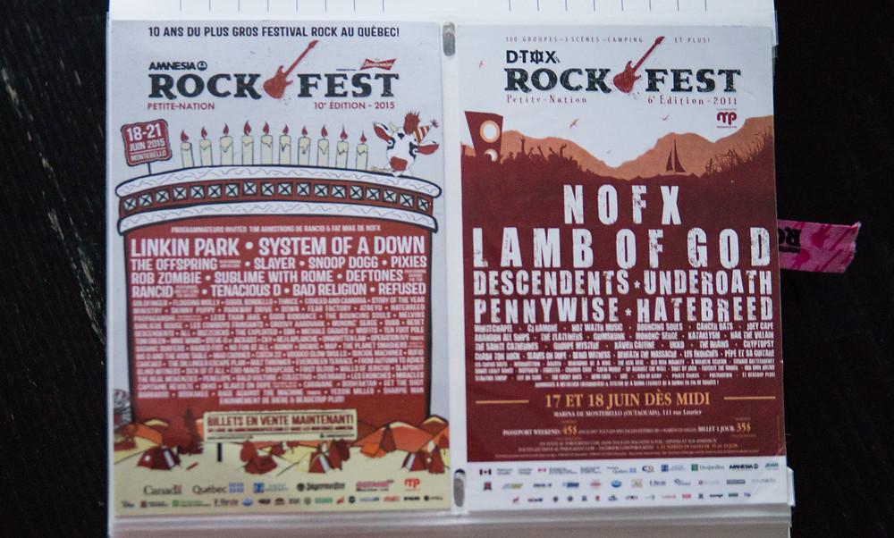 rockfest list flyers