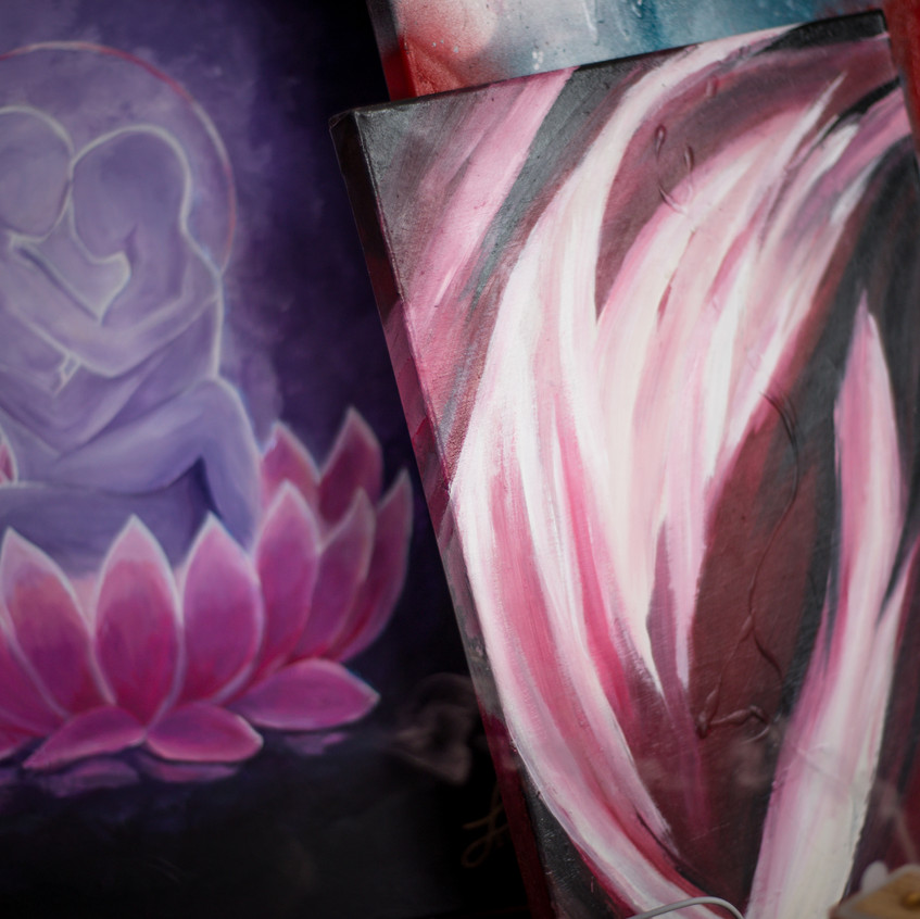 Abstract Spirit Painting Artworks