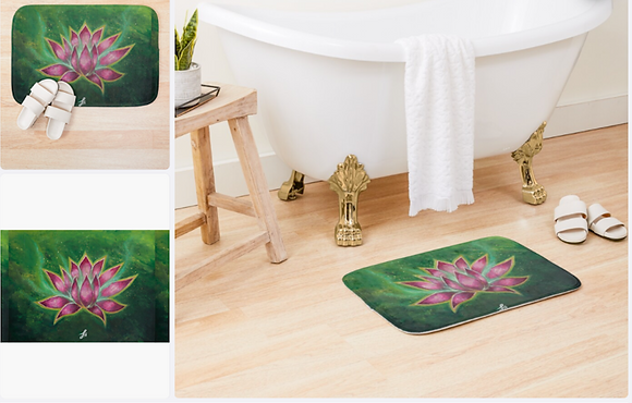 Magic Lotus Bath Mat (61x43cm)