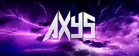 Axys - Logo - Electric sky background - purple