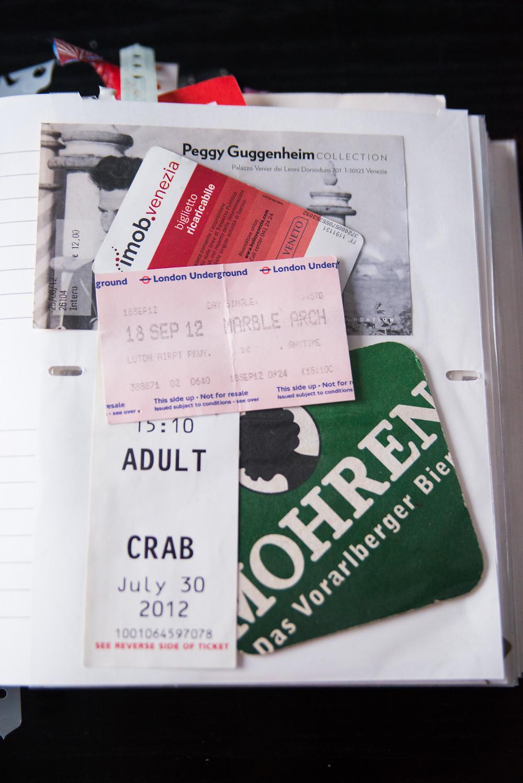 Adult Crab ? BC Ferries ticket - London Underground ticket - Mohren beer coaster