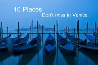 10 ที่ห้ามพลาดเมื่อไปเวนิส