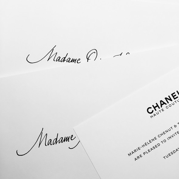 Dîner prestige Chanel Haute Couture