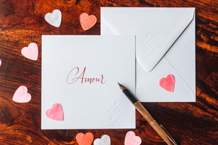 Carte Amour rouge