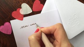 Ecrire un mot doux