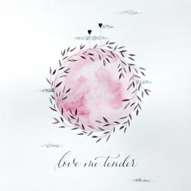 Affiche illustrée calligraphiée