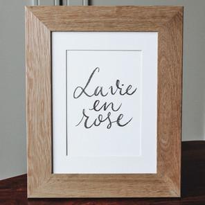 Affiche La vie en rose