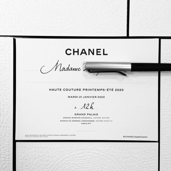 Défilé Chanel Haute Couture SS20