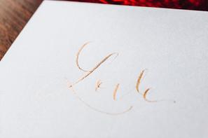 Carte Love dorée