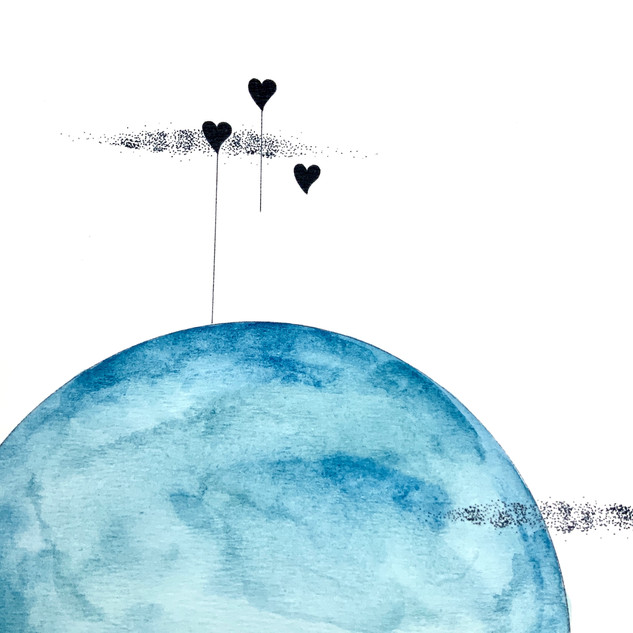Affiche Love is in the air Bleu poème